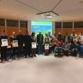Sämtliche PreisträgerInnen des KlimaKreisPreises 2019 mit Landrat Dr. Wolf-Rüdiger Michel