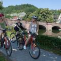 Fahrradfahrer auf dem Neckartal-Radweg