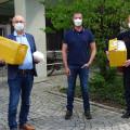 Spendenübergabe Schutzmaske Firma Degen