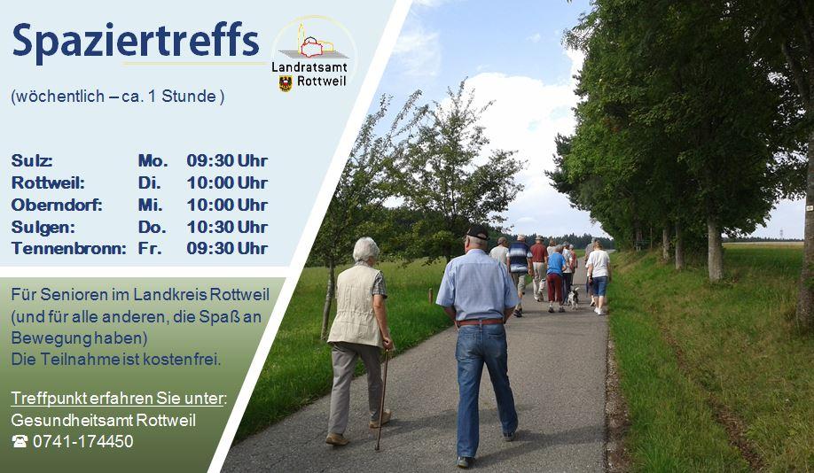Übersicht der Spaziertreffs im Landkreis Rottweil