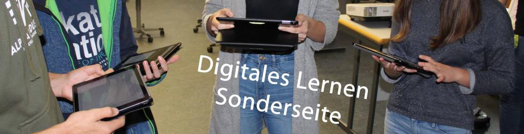 Banner Digitales Lernen Sonderseite